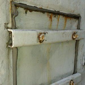 Tapa y marco de tanque- Antes