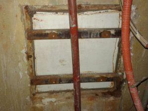Tapa y marco de cisterna - Antes
